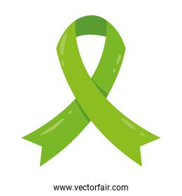 green ribbon campaign isolated icon