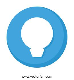 bulb light button isolated icon