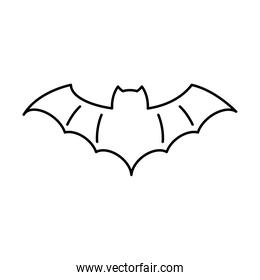 halloween bat flying style line icon