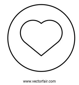 heart love button isolated icon
