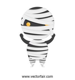 happy halloween cute mummy character