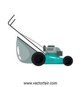 lawn mover gardening tool flat style icon