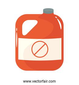 gallon of gardening product flat style icon