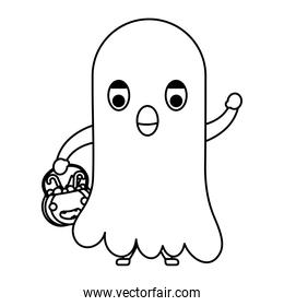 happy halloween cute kit disguise ghost character