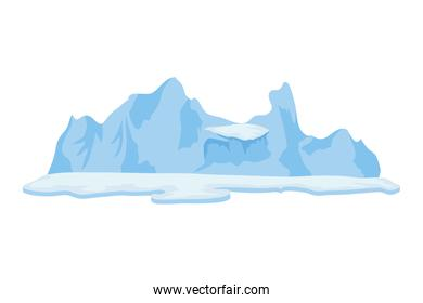iceberg arctic block isolated icon