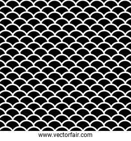 black scales background vector design