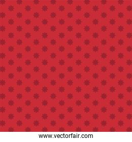 red with flowers background vector design