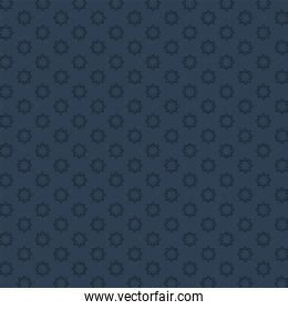blue with flowers background vector design