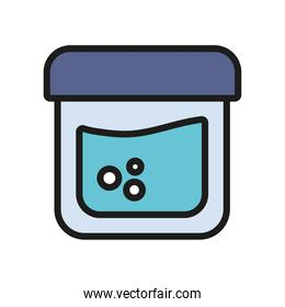 chemistry tube icon vector design