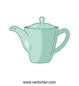 tea kettle line and fill style icon vector design