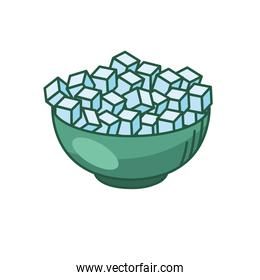 sugar cubes line and fill style icon vector design