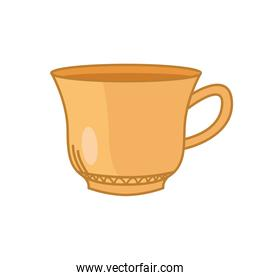 tea cup line and fill style icon vector design