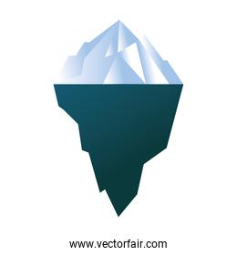 Isolated iceberg white and blue vector design