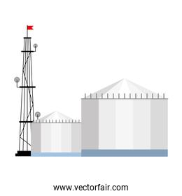 antenna and buildings vector design
