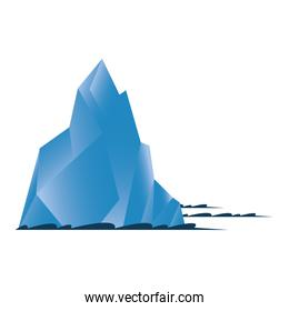 Isolated iceberg blue vector design