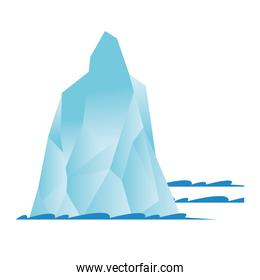 Isolated iceberg white vector design