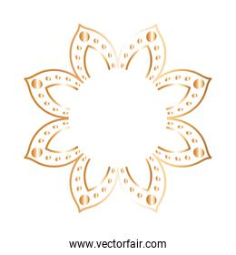 ornament in flower shaped gold vector design