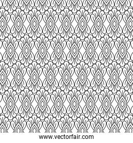 background black and white leaves pattern vector design