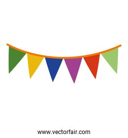 banner pennant flat style icon