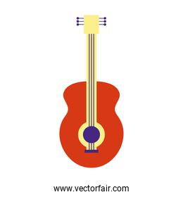guitar instrument flat style icon vector design