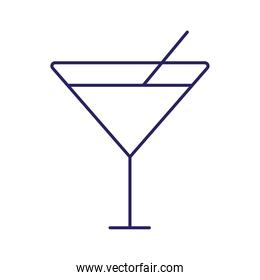 martini cocktail line style icon vector illustration
