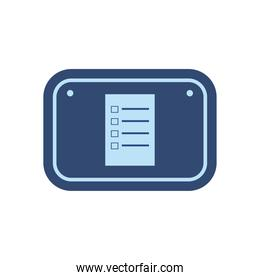 document in road sign flat style icon vector design