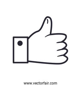 like hand line style icon vector design