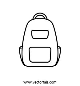 school backpack icon, line style