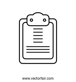 clipboard icon image, line style