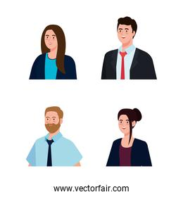 Businesspeople with suit vector design