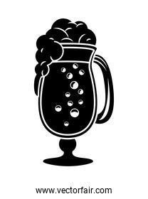 beer cup drink isolated icon