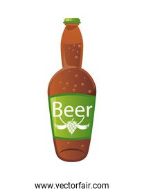beer bottle drink isolated icon
