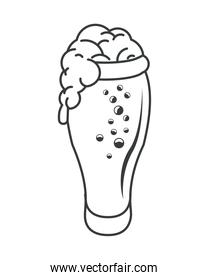 beer glass drink isolated icon