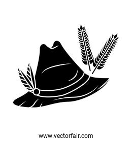 tyrolean hat germany silhouette icon