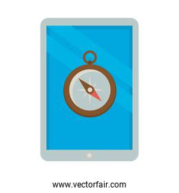 tablet device electronic and compass guide