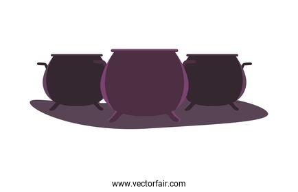 halloween witch cauldrons pots icons