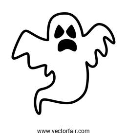 halloween ghost floating line style icon