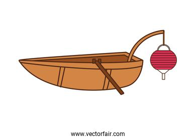 chinese boat with lamp icon