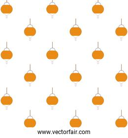 mid autumn lamps hanging pattern background
