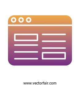 webpage template degradient style icon