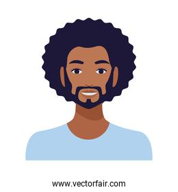 afro man with beard avatar character
