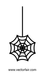 spider net hanging isolated icon