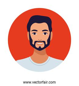 man with beard avatar character icon