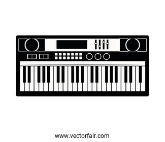 piano musical instrument isolated icon
