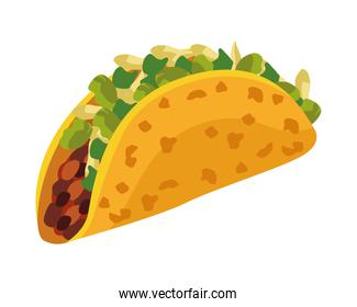 mexican taco food detailed style icon