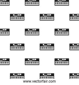 pianos musical instruments pattern background