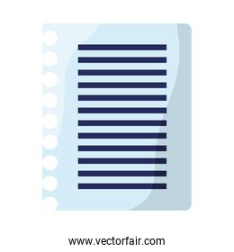 paper sheet notebook isolated icon