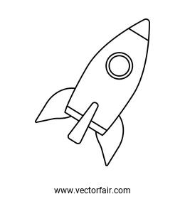 rocket launcher startup linear style  icon