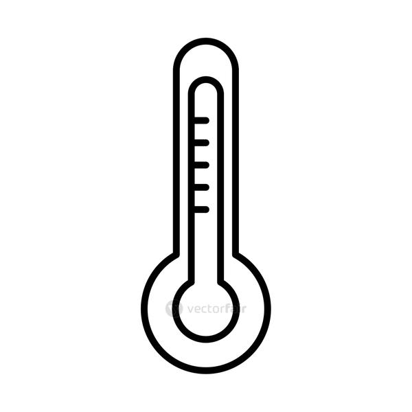 thermometer line style icon vector design
