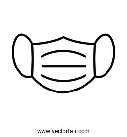 mask line style icon vector design